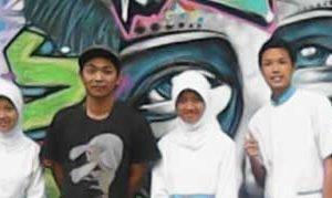 Aldy dan siswa/i SMK Wiyata Husada Kota Batu