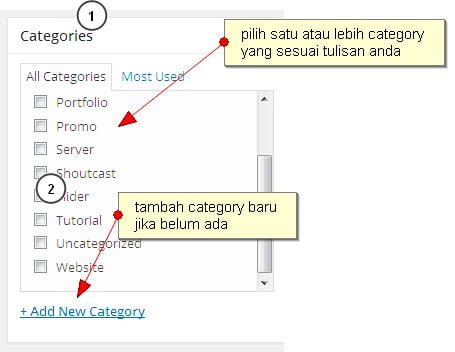 category post wordpress