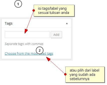 tag label post wordpress