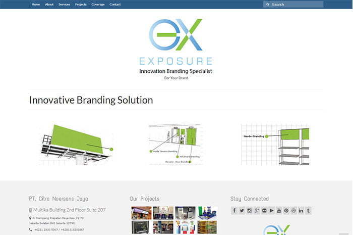 Exposure Branding company profile website development