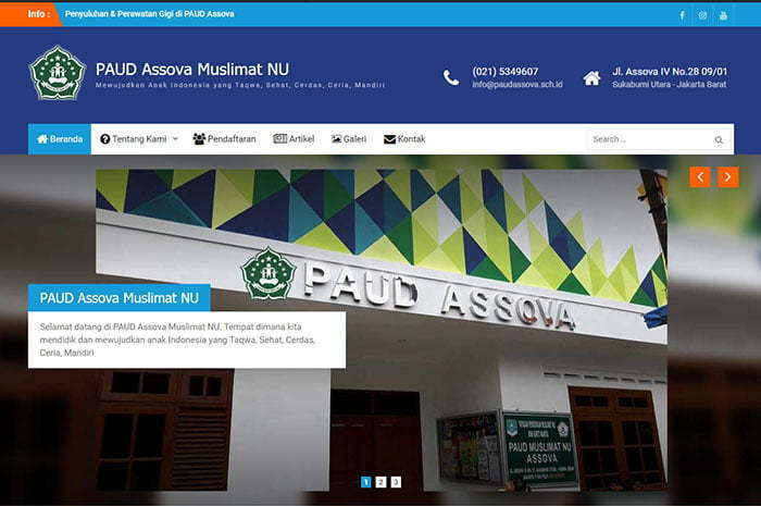 PAUD Assova company profile website development